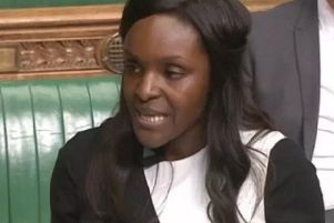 Fiona Onasanya MP in the House of Commons