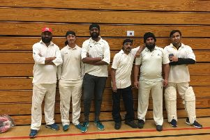 King's Keys B won for the first time in the Hunts Indoor Cricket League. They are, left to right, They are, from the left, Leo Singh, Jagdeep Singh, Jas Singh, Gary Singh, Saad Ashraf and Sunny Singh.
