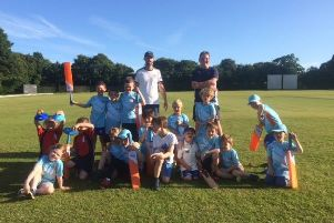 Junior cricket coaching is back.