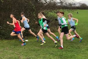 Action from the junior boys race.