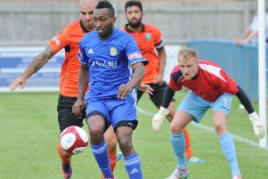 Avelino Vieira scored for Peterborough Sports at Bedford.