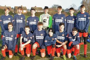 The Stamford Under 16 team beaten 7-2 by Netherton Hawks. They are from the left, back, Nick Henderson, Jacob Peel, Lewis Jacobs, Jacob Hulme, Charlie Weavers-Wright, Ed Chandler, Connor Gosnell, front,  Luke Stafford, Morgan Thompson, Syd Bailey, Will Wells, Oliver Booth and Jack Fowell.