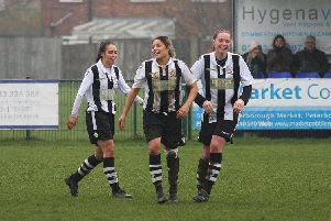 Katie Steward (left) and sister Cassie (centre) scored the Northern Star goals.