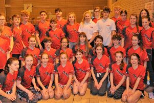 The Deepings Swimming Club squad  competing at the 2019 Lincolnshire County Championships