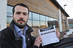 Roberto Mariconda outside the Chiquito restaurant with his parking fine