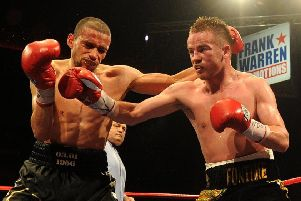 Curtis Woodhouse (left) in action against Frankie Gavin during  a WBO Intercontinental Welterweight Championship bout at the Liverpool Echo Arena, Liverpool, in  July 2011. Picture: Martin Rickett/PA Wire