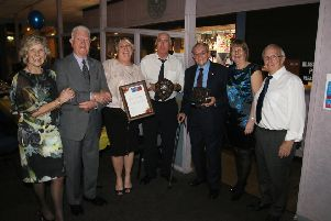Pauline Edge, Wally Newman, Sue Piergianni, Mick Cooke , Ken Mayor, Judy Darby and Ray Thrower. Photo courtesy of RWT Photography