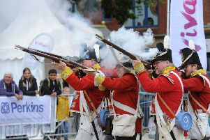 Heritage Festival . Napolionic War soldiers from the Norfolk REgiment EMN-180617-215408009