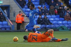 Siriki Dembele should be back in action for Posh against Southend.
