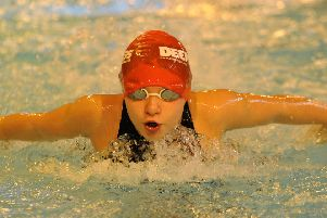 Lilly Tappern achieved the Midland Qualifying time in the 50m butterfly with a four-second personal best at Grantham.