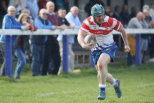 Jack Askham runs in for the first Peterborough Lions try. Picture: Mick Sutterby