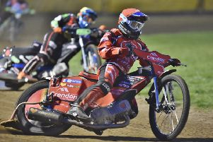 Rohan Tungate on his way to victory for Panthers in heat six. Picture: David Lowndes