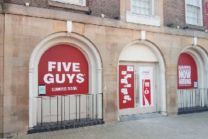 The Five Guys restaurant taking shape in Peterborough city centre