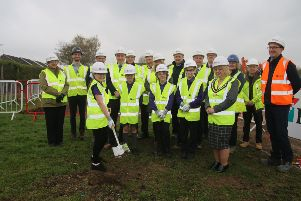 The groundbreaking ceremony at New Road Primary School