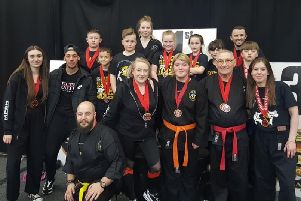 The Master Parker's Serial Kickers team that did well at the European Championships.