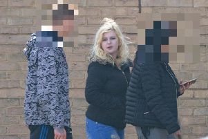 Martyna Ogonowska outside court