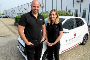 Flagship Trucks's Peter Rushmer and Maggie Rushmer.
