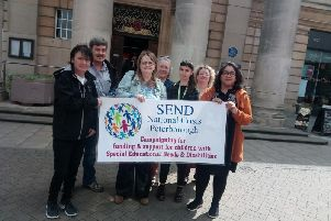 The protest over SEND funding and support in Bridge Street
