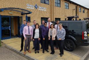 The team at Moore Thompson in Peterborough.