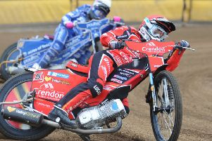 Peterborough Panthers rider Rohan Tungate struggled in Glasgow.