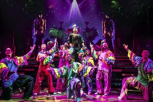 A previous cast of Joseph and the Amazing Technicolor Dreamcoat