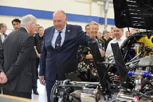 Chief executive Joe Anwyll at last weeks visit by the Duke of Gloucester.