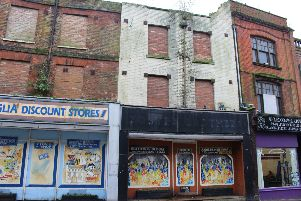 The building which is to be partially demolished