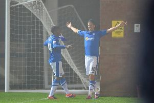 One of many George Boyd goal celebrations in his Posh career.