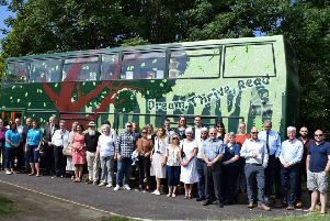 The Baston Library Bus launch