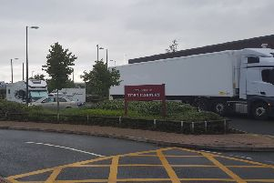 The traveller encampment at Toby Carvery in Peterborough