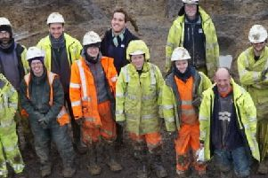 Some of the team on site. Pic: Oxford Archaeology