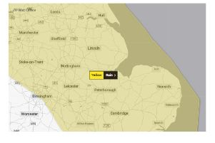 The Met Office's warning covers Saturday and Sunday