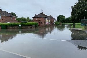 PT reader Hayden Shepherd sent this image of flooding in  the Corfe Avenue and  Rockingham Grove area of Peterborough.
