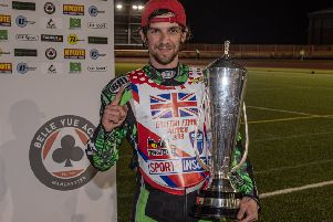 Charles Wright with the British Championship trophy. Photo: Ian Charles.