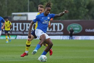 Ivan Toney of Peterborough United in action against Oxford United. Photo: Joe Dent/theposh.com.