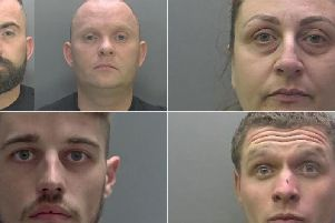 These are the faces of criminals jailed in Peterborough and Cambridgeshire in August.