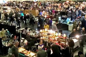 Visitors to a Peterborough Festival of Antiques.
