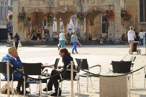 Cathedral Square, which has seen a rise in coffee shops and al fresco dining.ENGEMN00120130409171519