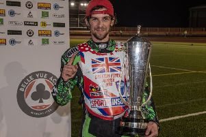 Charles Wright with his British title trophy. Photo: Ian Charles.
