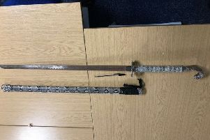 The weapons seized by police. Photo: Cambridgeshire police