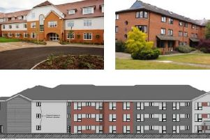 Submitted images for the proposed new care home