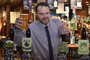 Draper's Arms, Cowgate manager Chris Parkes promoting  the forthcoming 40th anniversary real ale beer festival EMN-190110-172411009