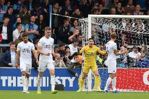 Posh goalkeeper Christy Pymfrustration after Wycombe Wanderers score their first goal at the weekend. Photo: Joe Dent/theposh.com.