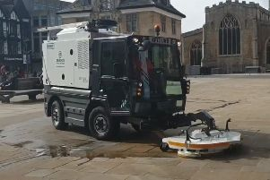 The new Cityjet machine in action in Peterborough