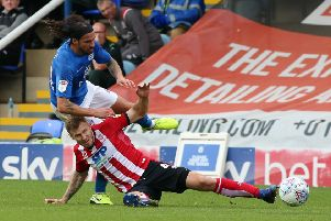 George Boyd is flattened by Michael O'Connor. Photo: Joe Dent/theposh.com