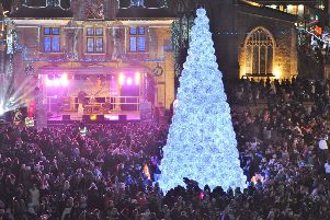 The 2017 Christmas lights switch-on in Peterborough