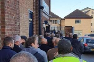 Staf at Shelton's posted this image of large queues outside the Stanground store as customers flocked to the closing down sale and to wish staff well.