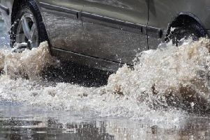 The A47 has been flooded