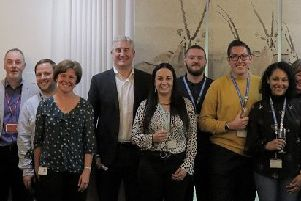 Some of the BGL team with chief executive Matthew Donaldson.