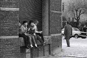 Chris Porsz's picture shows youngsters at the back of the Embassy taken in the early 1980s.
